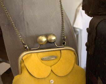 "Vintage ""Cecily's collar"" purse shoulder bag yellow Tulip"