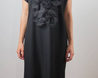 black tunic/oversized dress/plus size/maternity/plus size tunic