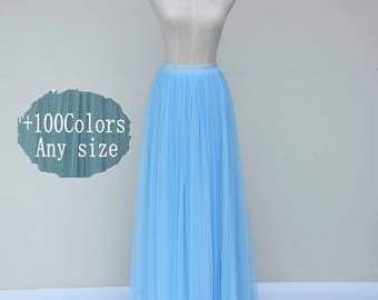 Women long tulle skirt dress, floor length wedding bridesmaid adult tutu