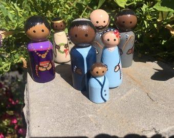 7 Piece MINIATURE Multi-Racial Nativity Set