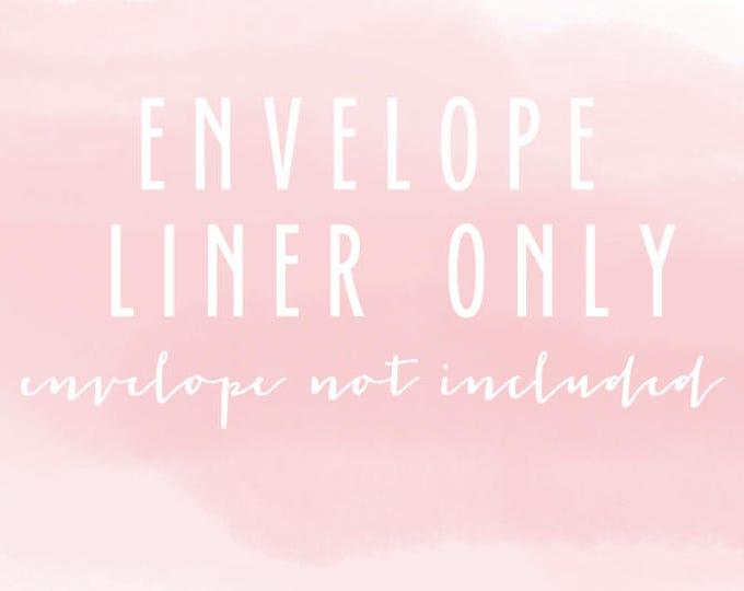 regular envelope liner only (envelope not included) - set of 10
