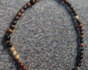 Septenary Prayer Beads (Tiger's Eye Separators)