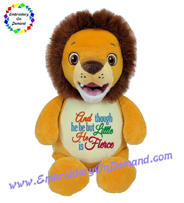 Cubbies lion baby gift personalized teddy negle Images