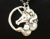 Unicorn and crystal necklace