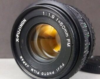 Fuji Fujifilm FM 50mm F1.9 X-  Fujinon 35mm lens FX mount series w/ cap