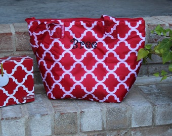 Monogrammed Insulated Lunch Bag------Great Teacher Gift or anyone on your list!-----------