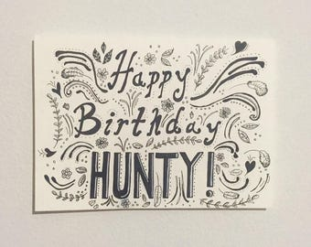 HUNTY Drag Race Inspired Birthday Card