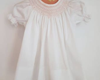 Vintage  smocked baby dress. The perfect shower gift