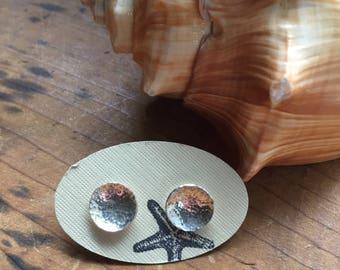 Sterling silver earrings, stud earrings, silver stud earrings, sterling silver studs, recycled silver earrings