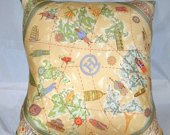 Hermes Custom Scarf Pillow Toute Contrefacon Sera Pour Design  iwj4368-1