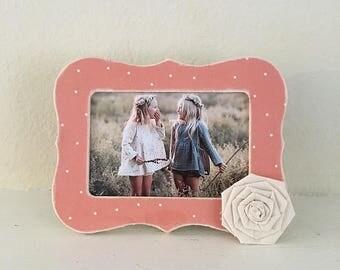 Gift for mom, picture frame gift, floral spring decor, grandma picture frame, custom frame, baby frame, ultrasound frame, nursery decor