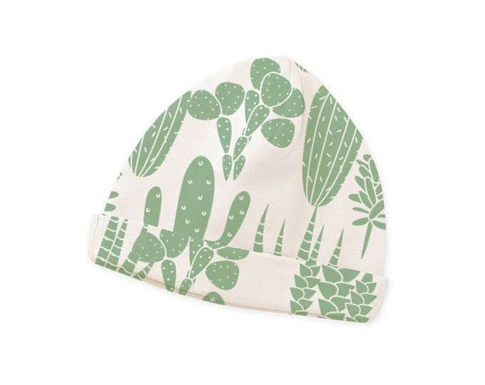 SPRING SALE! Newborn Cactus Hat, Newborn Green Cactus Baby Hat, Infant Baby Hat for Girls, Baby Boy Beanies, Baby Girl Beanies Tesababe