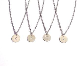Initial necklace, Personalized jewelry, necklace, personalized necklace, bridesmaid gift, silver necklace, monogram jewelry