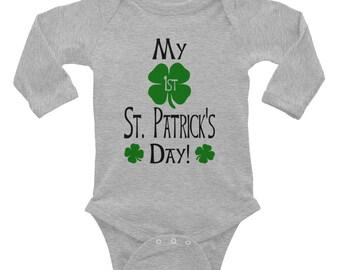 My First St. Patrick's Day! Baby Onesie