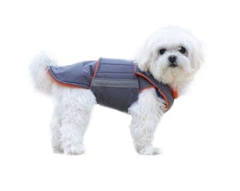 Bichon Winter Dog Coat with underbelly protection - Custom made dog clothes - Waterproof / Fleece Dog Jacket - MADE TO ORDER