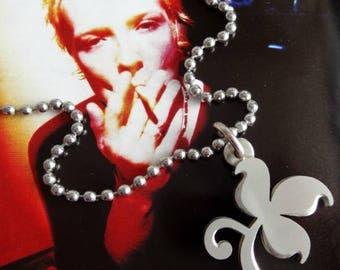 Stone Temple Pilots silver fleuron pendant, Scott Weiland STP rockstar jewellery