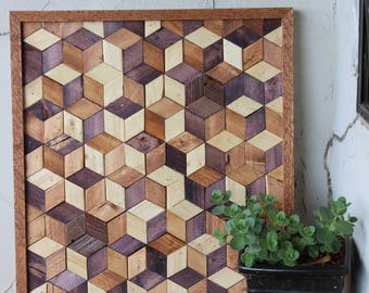 Geometric Wood Wall Art