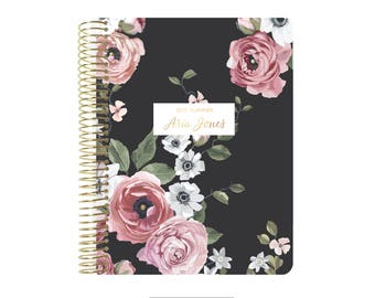 2018 Planner | Personalized Planner | 12 Month Planner | Weekly Planner | Student Planner | Professional Planner | Agenda | Floral