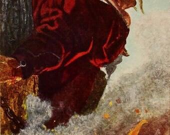 Execution of Taras - Artist E. Kibrik - Vintage Soviet Postcard, 1954. Taras Bulba, Nikolai Gogol, Zaporozhian Cossack Painting Art Print