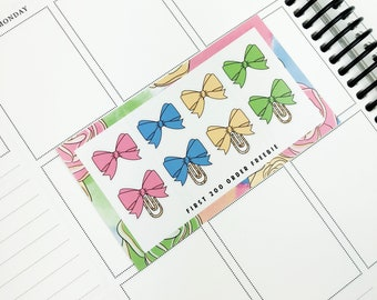 Spells & Pastels // Bows (Glossy Planner Stickers)