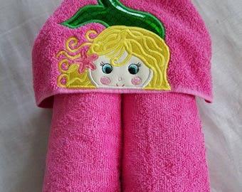 Mermaid Hooded Towel.Kids Hooded Towel,Child's Hooded Towel,Personalized Hooded Towel,Hooded Bath Towel,Hooded Beach Towel,Mermaid Towel