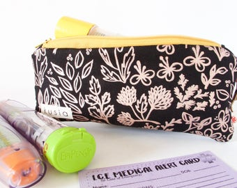 EPIPEN Case. EpiPen Carrier with Medical ID.Allergy Bag. INSULATED Medical Allergy. Waterproof.Cute EpiPen Pouch. Medical Bag.Peanut Allergy