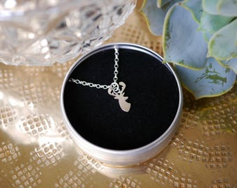 Sterling Silver Stag Necklace / chain / stag gift / gifts for her / bridesmaid gift / stocking filler / 925 / hypoallergenic