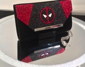 Deadpool Inspired Glitter Handbag Clutch
