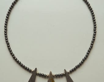 Rare Jasper and Welsh Slate Necklace