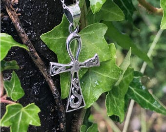 Silver Ankh Pendant, Sterling Silver, Ankh Necklace, Silver Ankh Necklace, Ankh Jewelry, Crux Ansata, Breath Of Life Pendant Egyptian EGP025
