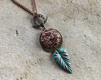 Metal Pendant, Metal Necklace, Southwest Jewelry, Southwest Pendant, Womens Jewelry, For Her