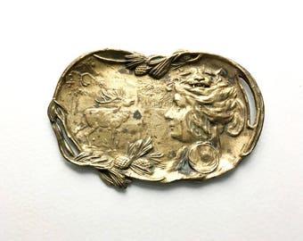 French Antique Bronze Vide-Poche - Bronze Trinket Dish - Art Nouveau Period - 1900's