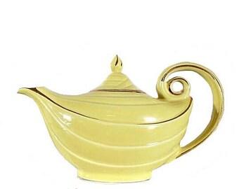 Hall Teapot, Hall Aladdin, Aladdin Teapot, Yellow Hall, Hall Yellow Teapot, Vintage Hall, Yellow Hall Teapot, Aladdin, Hall, Hall pottery