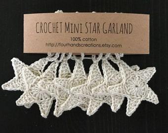 Crochet Mini Star Garland (natural)