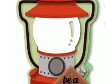 Be a Beacon , Lantern Shaped Card , Layered , Free Shipping , Camping , Outdoors , Encouragement