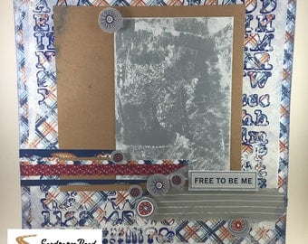 "12x12 Scrapbook Page ""Free to be Me"""