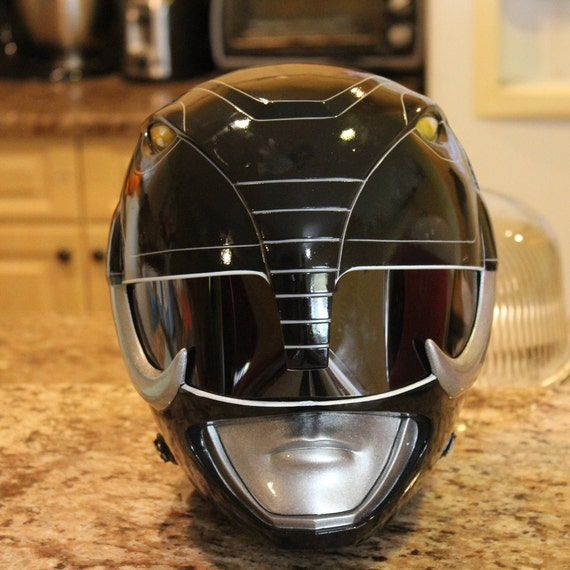 Mighty Morphin Black Power Ranger Version Helmet Finished