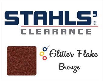 "12"" x 10 Yards - Stahls' Glitter Flake - Craft Roll - Iron-On Heat Transfer Vinyl - HTV - Bronze"