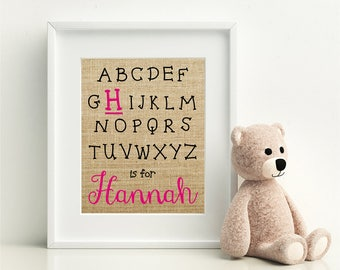 Alphabet Name Sign | Nursery Wall Decor | Baby Name Sign