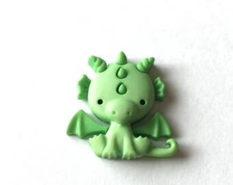 Dragon Pin, Dragon Tie Tack, Green Dragon Badge, Brooch, Fantasy Dragon, Unicorn Pin Tie Tack, Fairy Pin Tie Tack, Cute Unicorn