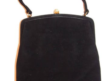 RESERVED~ handbag vintage black - black vintage purse - vintage evening bags - evening bag vintage - evening bags black - vintage handbags