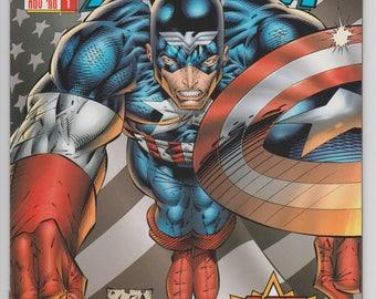 Captain America #1 1996 Variant Cover Rob Liefeld & Jeph Loeb Marvel Comics Heroes Reborn 1990s