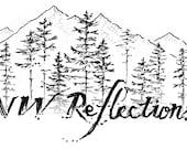 NW Reflections | Custom Photography Logo