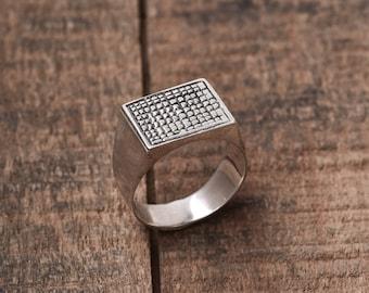 Men's Ring -  Men's Silver Ring - Men's Band - Men's Silver Band - Men's Jewelry - Men's Gift - Husband Gift - Boyfriend Gift - Gift For Dad