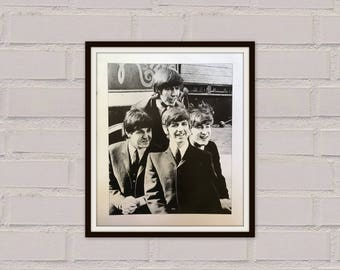 Beatles Print - Vintage Print  - The Beatles - John Lennon - Beatlemania - Paul McCartney - George Harrison - Ringo Starr - Beatles Art