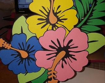 Hawaii Flower Bunch Cut File