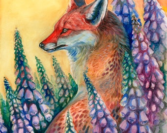 """Foxgloves  8x12"""" Lustre print"""