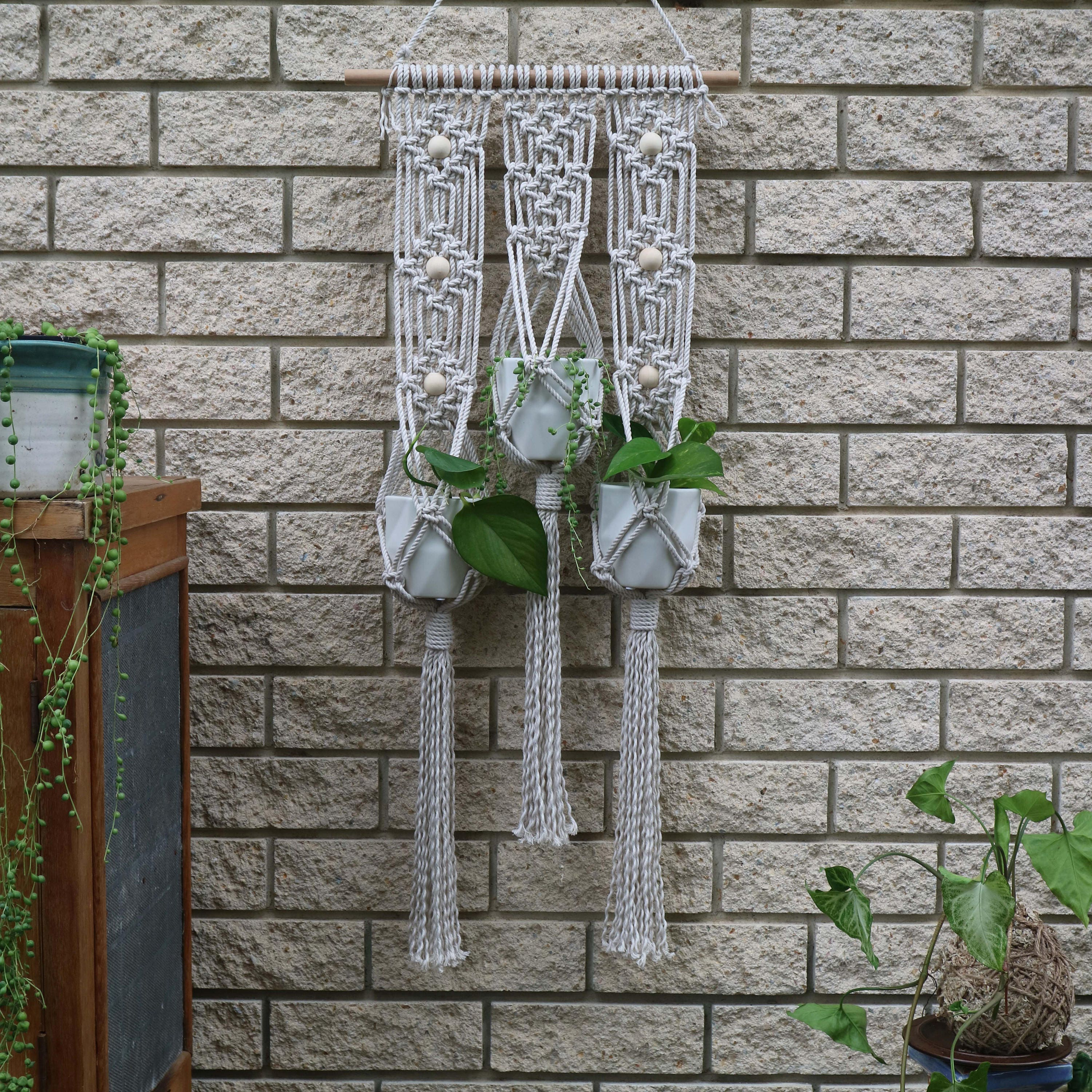 Hanging Garden Pot Hanger Diy Macrame Kit