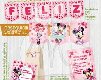 AWSOME MINNIE KIT! printable with editable texts! Instant Download! Birthday Party or Baby Shower
