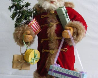 Victorian Santa Claus figurine Victorian Christmas decoration santa Doll Father Christmas Kris Kringle Belsnickel postcard  st nicholas